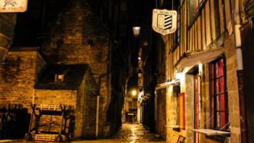 Dinan France Night